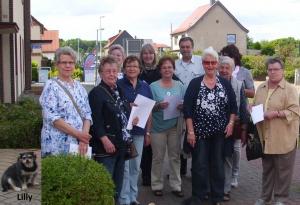 Unser Wandertrupp mit Ortsbürgermeister Werner und Lilly